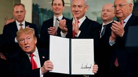 Trump reconhece soberania de Israel sobre Montes Golã