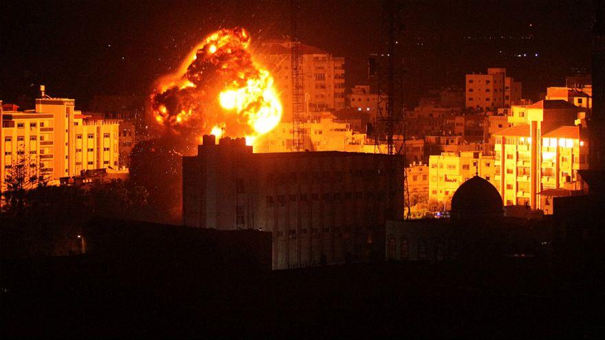 حمله هوایی اسرائیل به دفتر رهبر حماس در غزه