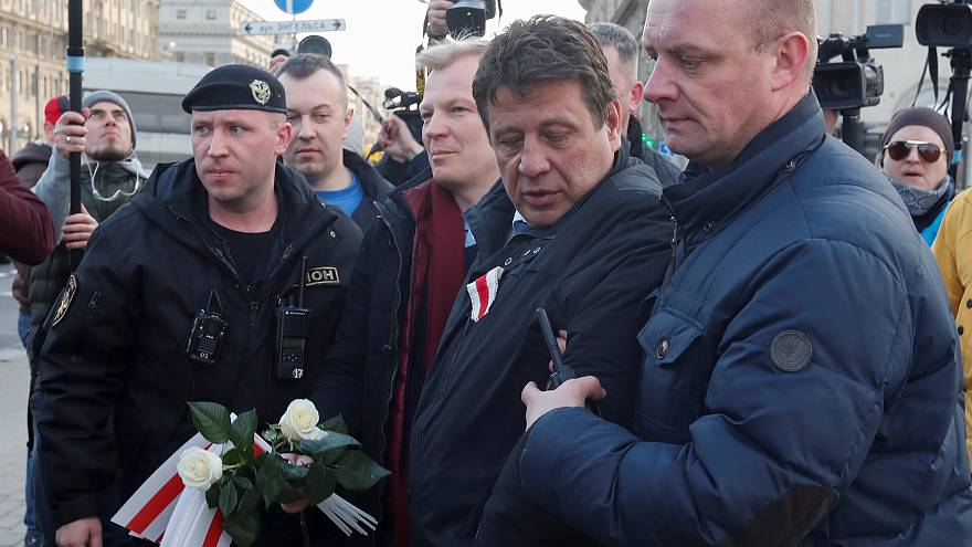 Belarus opposition politicians 'detained' at independence rallies