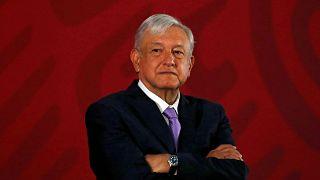 Mexico's President Andres Manuel Lopez Obrador on February 15, 2019.