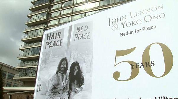 Vor 50 Jahren: Bett-Happening mit John und Yoko für den Frieden