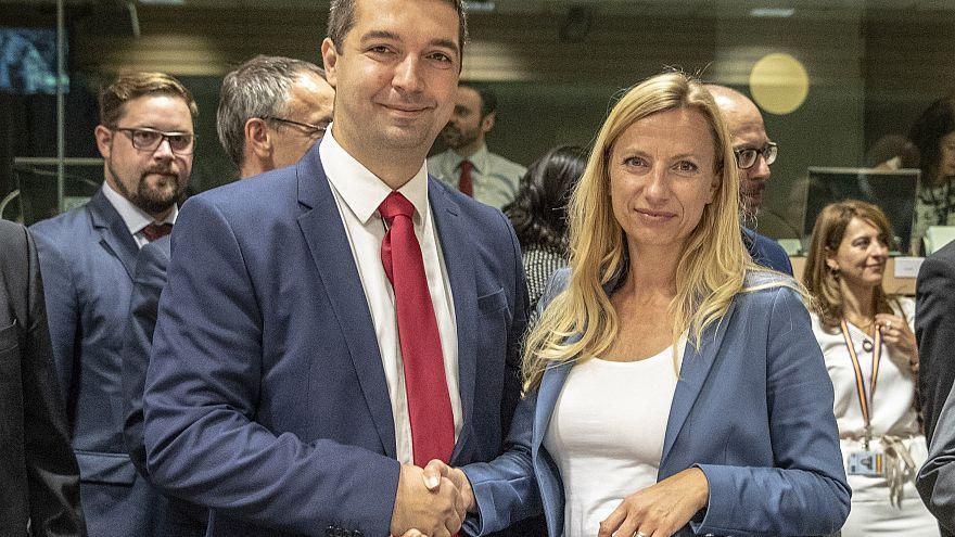 Feldman Zsolt államtitkára és Juliane Bogner-Strauss osztrák miniszter