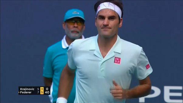Miami: Federer már nyolcaddöntős