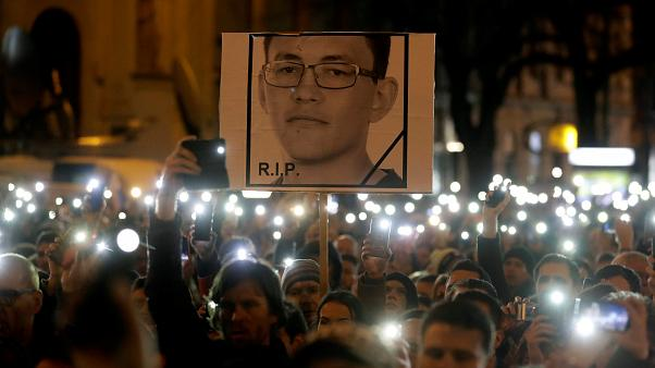 Rally marking the first anniversary of the murder Jan Kuciak