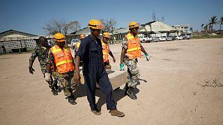 Membros da Unidade de Resposta a desastres do Quénia em Moçambique