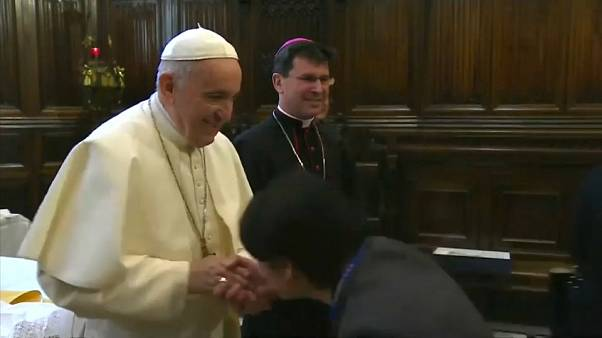 Watch: Pope Francis doesn't want anyone to kiss his papal ring