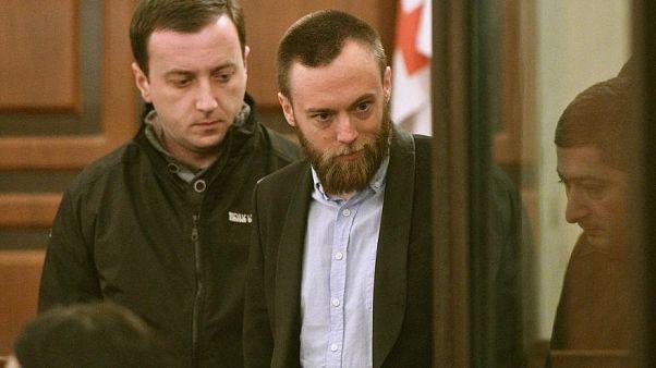 Jack Shepherd appearing in a Georgian court in January