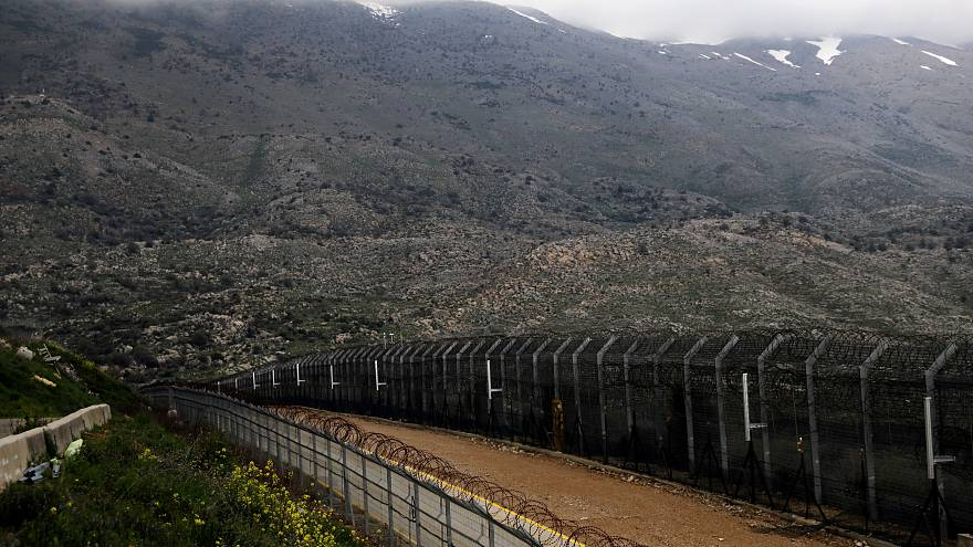 FILE PHOTO: Fences are seen on the ceasefire line between Israel and Syria