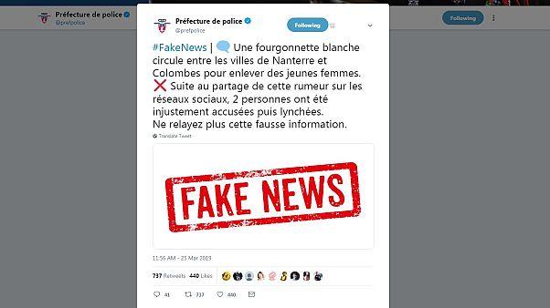Capture d'écran Twitter Préfecture de police de Paris