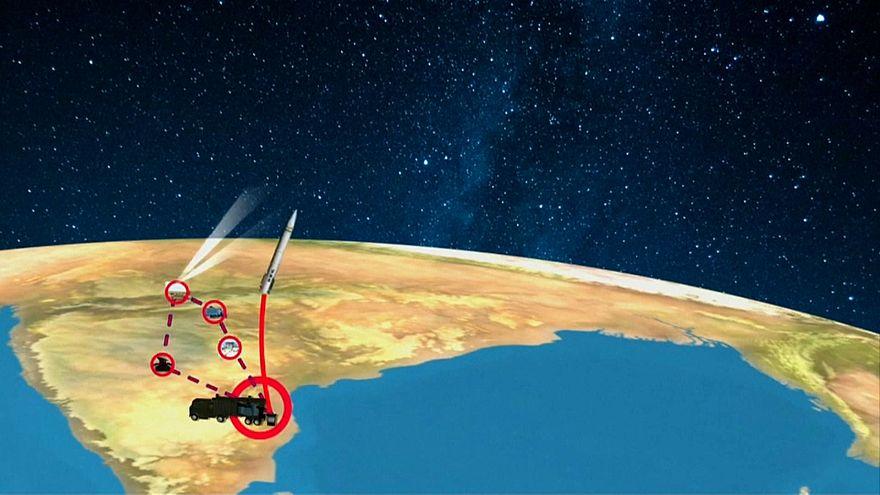 صورة من مقطع فيديو تفصيلي لعمل الصاروخ الهندي الجديد