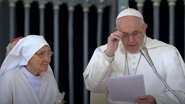 Pope Francis thanked Sister Maria Concetta Esu for her work