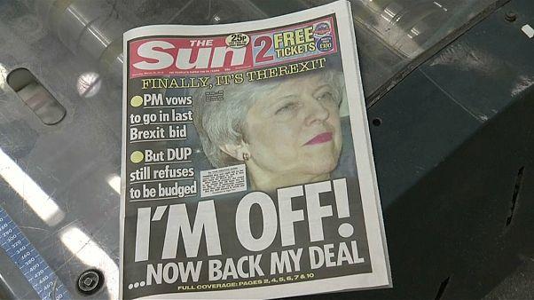 May ofrece su cabeza a cambio de que se apruebe su plan para el Brexit