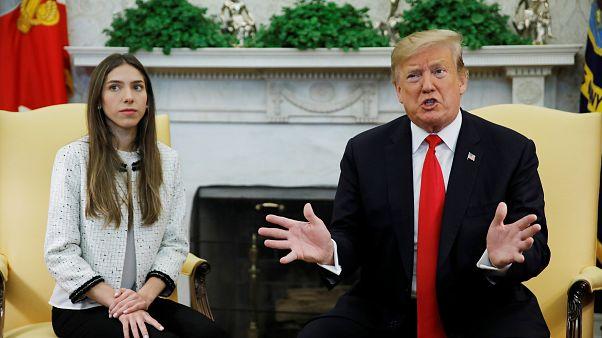 Trump recibe en la Casa Blanca a la esposa de Guaidó