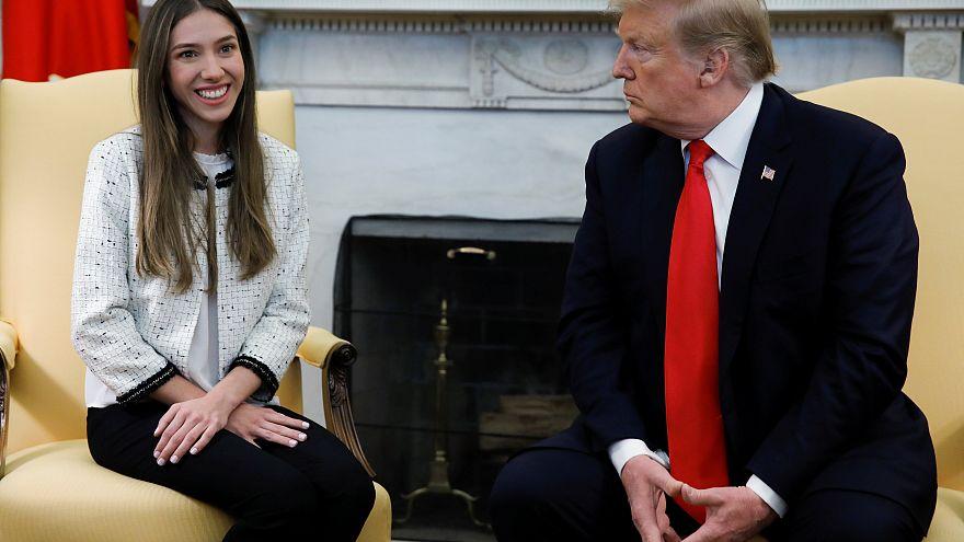 US-Präsident Donald Trump und Guadiós Frau Fabiana Rosales im Weißen Haus