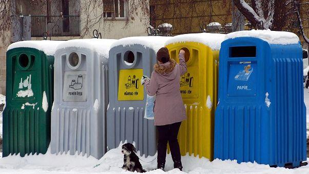 Szelektív hulladékgyűjtő Budapesten