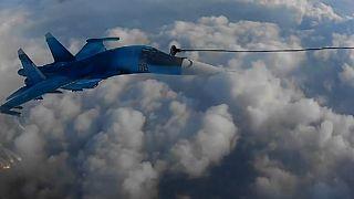 سوختگیری جتهای روسی در آسمان