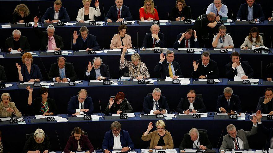 Vote des députés européens à Strasbourg