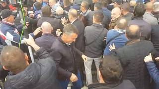 Albanian protesters try to storm parliament building in Tirana