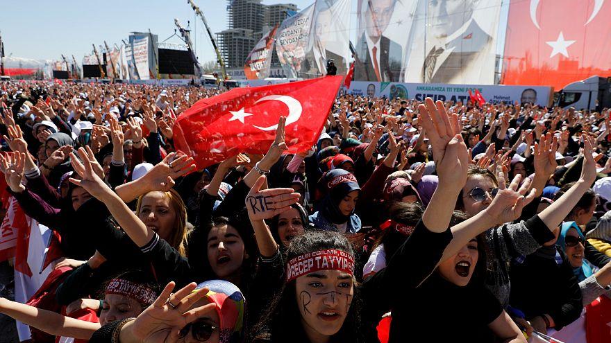 Millet İttifaki'nın Ankara yerel seçim mitinginde bir kare