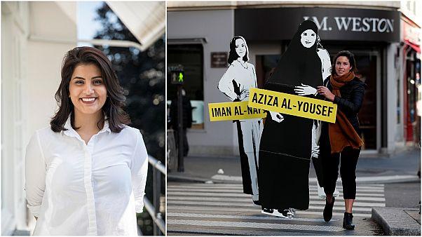 مظاهرة أمام السفارة السعودية في باريس لإطلاق سراح الناشطة لجينة الهذلول
