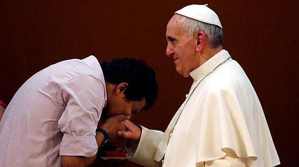 رئيس الكنسية الكاثوليكية - البابا فرنسيس (رويترز)