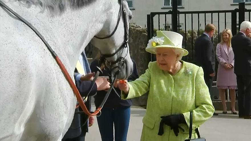Queen Elizabeth II. füttert Pferde