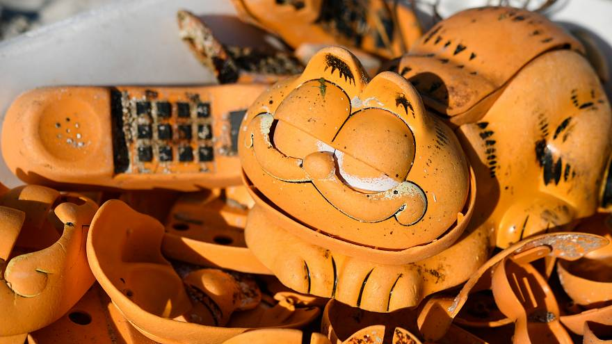 Locals solve mystery of Garfield phones washing up on French beach for 30 years