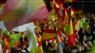 Catalan separatists clash with police in protest against far-right