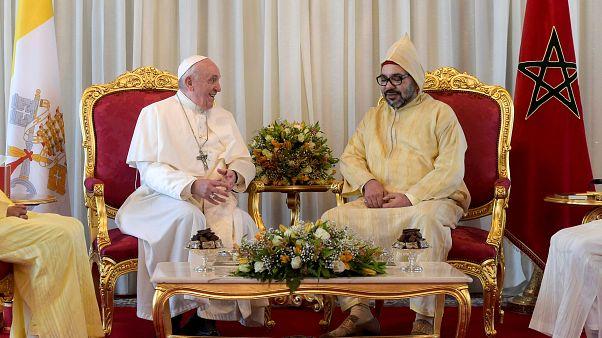 البابا والعاهل المغربي يؤكدان من الرباط على ضرورة أن تكون القدس مفتوحة أمام كل الديانات
