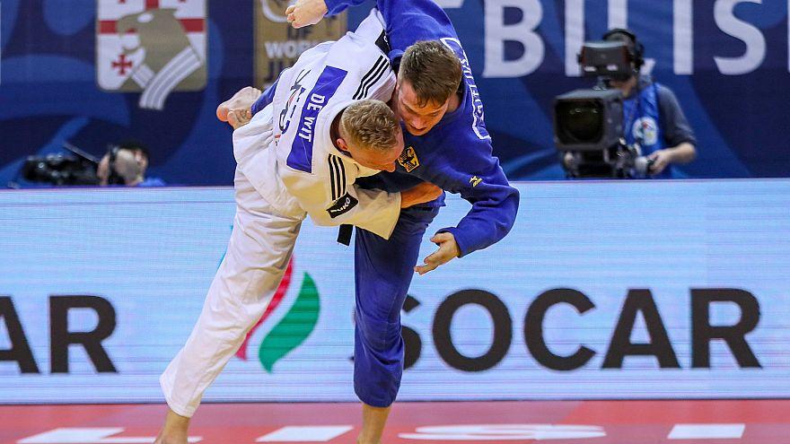 """البطلة الأولمبية """"سان فار ميير"""" تتوج بالميدالية الذهبية في جائزة تبليسي الكبرى للجودو ."""