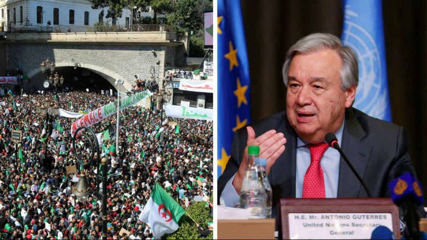 دبیر کل سازمان ملل خواستار انتقال دموکراتیک قدرت در الجزایر شد