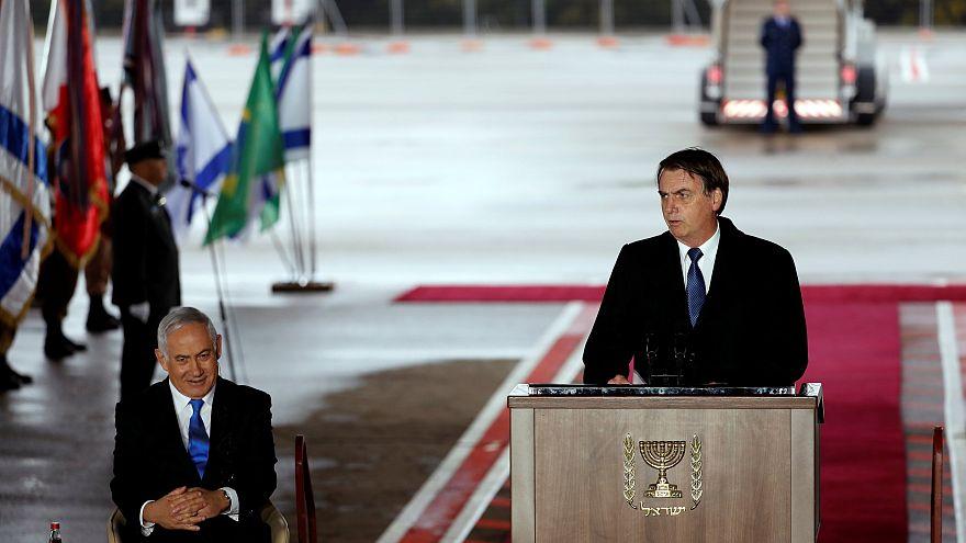 İsrail Başbakanı Binyamin Netanyahu, Brezilya Devlet Başkanı Jair Bolsonaro