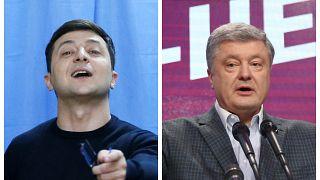 Зеленский и Порошенко - во втором туре