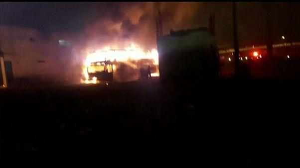 При возгорании автобуса в Перу погибли около 20 человек