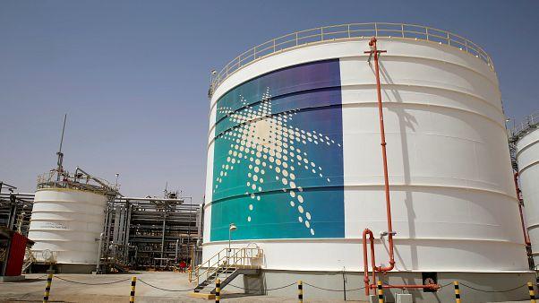 خزان وقود تابع لشركة أرامكو السعودية