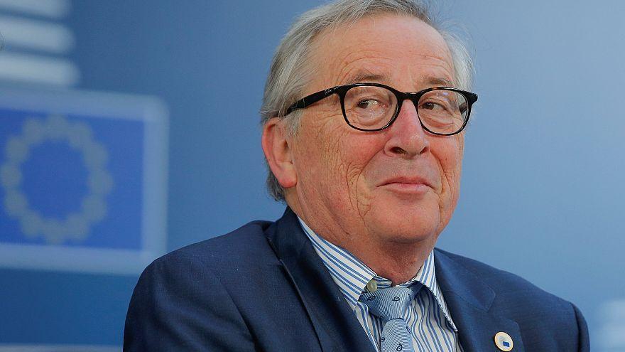 جان-كلود يونكر في القمة الأوروبية التي انعقدت في 22 آذار - مارس الماضي