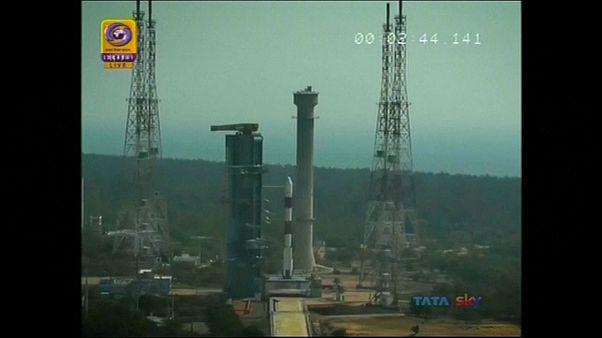 Запуск индийской ракеты-носителя