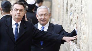 بولسانارو همراه با نتانیاهو دیوار ندبه را زیارت کرد