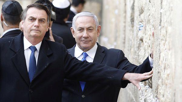 Jair Bolsonaro und Benjamin Netanjahu an der Klagemauer