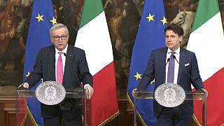 Juncker preocupado com falta de crescimento económico em Itália