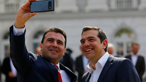 Greece and North Macedonia make peace with selfies and air pact