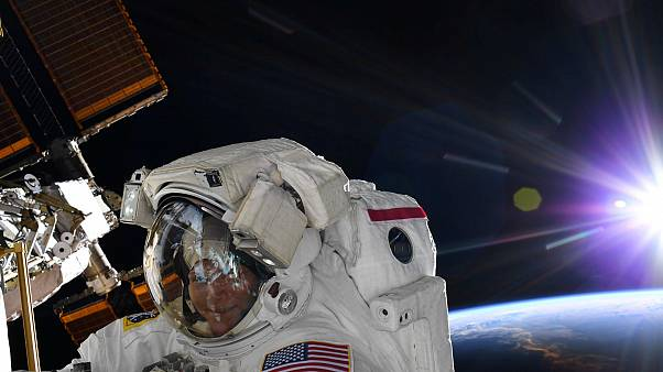 NASA astronaut Anne McClain during a spacewalk form the ISS