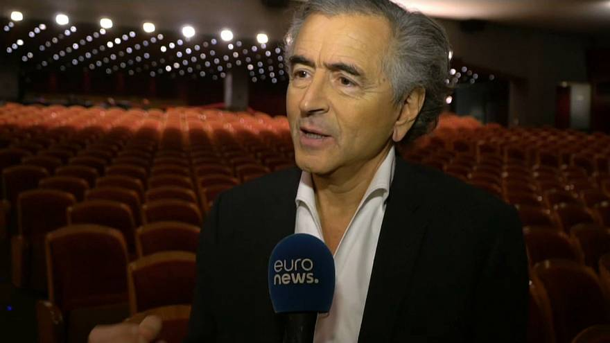 French philosopher Bernard-Henri Levy
