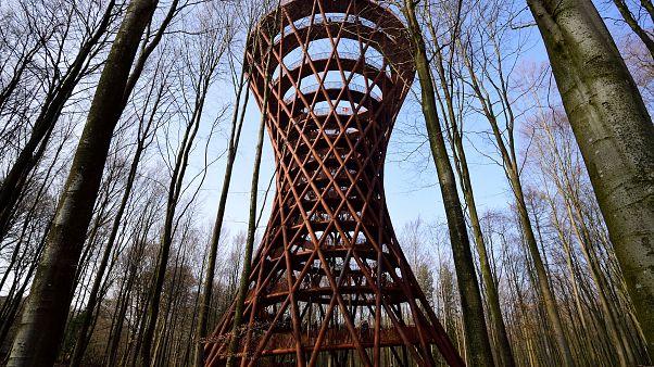 Dinamarca inaugura su torre 'eco-friendly' de 45 metros de altura en medio de un bosque