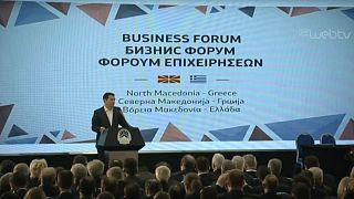Τσίπρας και Ζάεφ στο επιχειρηματικό φόρουμ των Σκοπίων