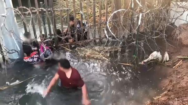 شاهد: محاولة تهريب عائلة مكسيكية على الحدود الأمريكية