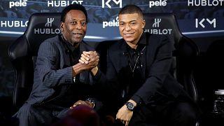 La star Mbappé et la légende Pelé : rencontre immortalisée