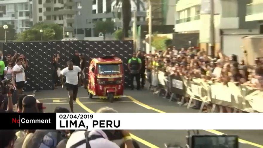 اوسین بولت از تاکسی موتوری در پرو جلو زد