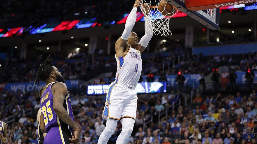 NBA: Westbrook zseniális meccsel Wilt Chamberlain nyomában