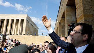 أكرم إمام أوغلو مرشح حزب الشعب الجمهوري المعارض لمنصب رئيس بلدية اسطنبول